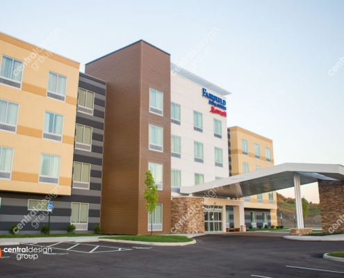 Fairfield Inn Hotel Design with Neutral Color Scheme
