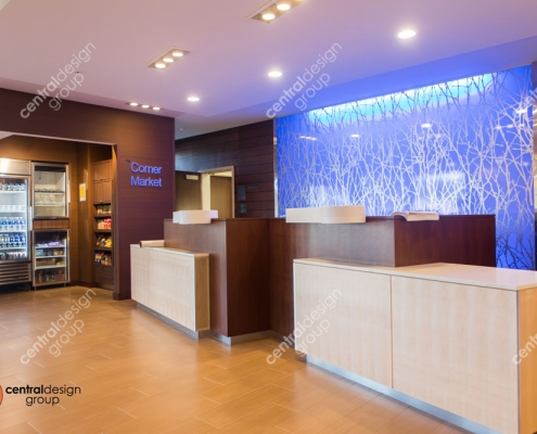 Cambridge Fairfield Inn Front Desk Hotel Interior Design