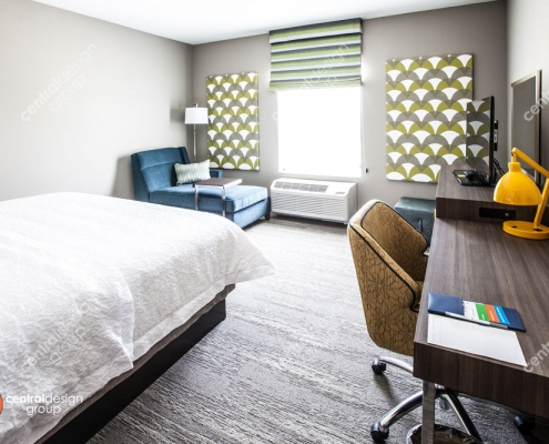 Hampton Inn Guestroom Interior Design