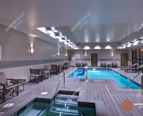 Fairfield Inn Interior Design of Pool and Hot Tub