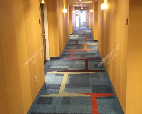 Columbus Fairfield Hallway with Decorative Carpet