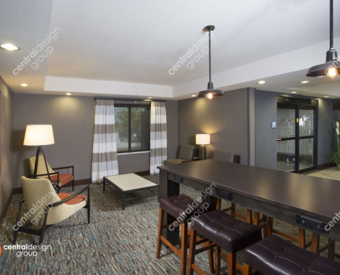 Legacy Suites Hotel Interior Design of Business Center