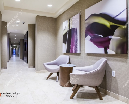 Hotel Interior Design with Pretty Artwork and Seating