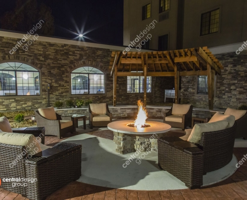 Westport Staybridge Patio Design with Fire Pit